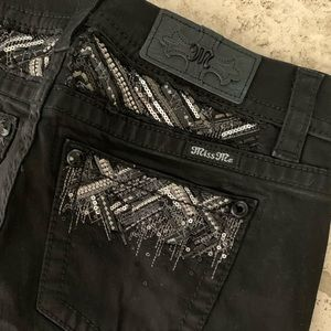 NWT Miss Me Jeans Mid Rise Easy Skinny Black